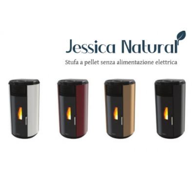 Poêle à granulés sans électricité JESSICA  Bronze