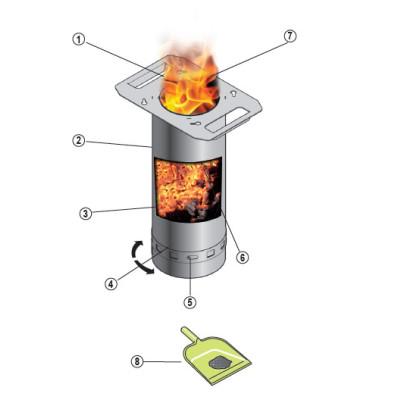 Barbecue plancha à granulés sans électricité PARTY Noir