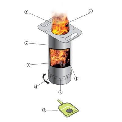 Barbecue plancha à granulés sans électricité GRILLY Inox