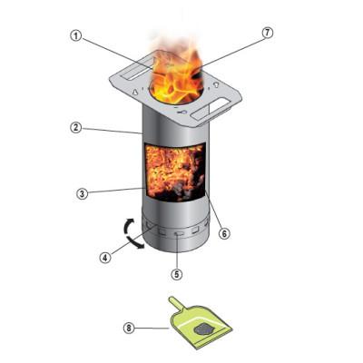 Barbecue plancha à granulés sans électricité HAPPY Inox