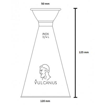 Flacon à huile 0,75 l VULCANUS