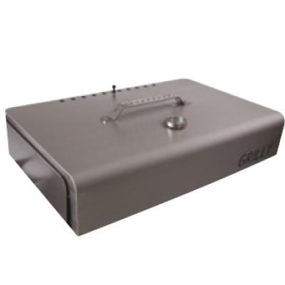 Pack barbecue plancha à granulés sans électricité GRILLY Rouge + couvercle + tablette